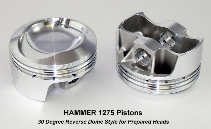 Lightweight High Performance 1275cc 30 Degree Reverse Dome Forged Piston for Harley Davidsons and Buells